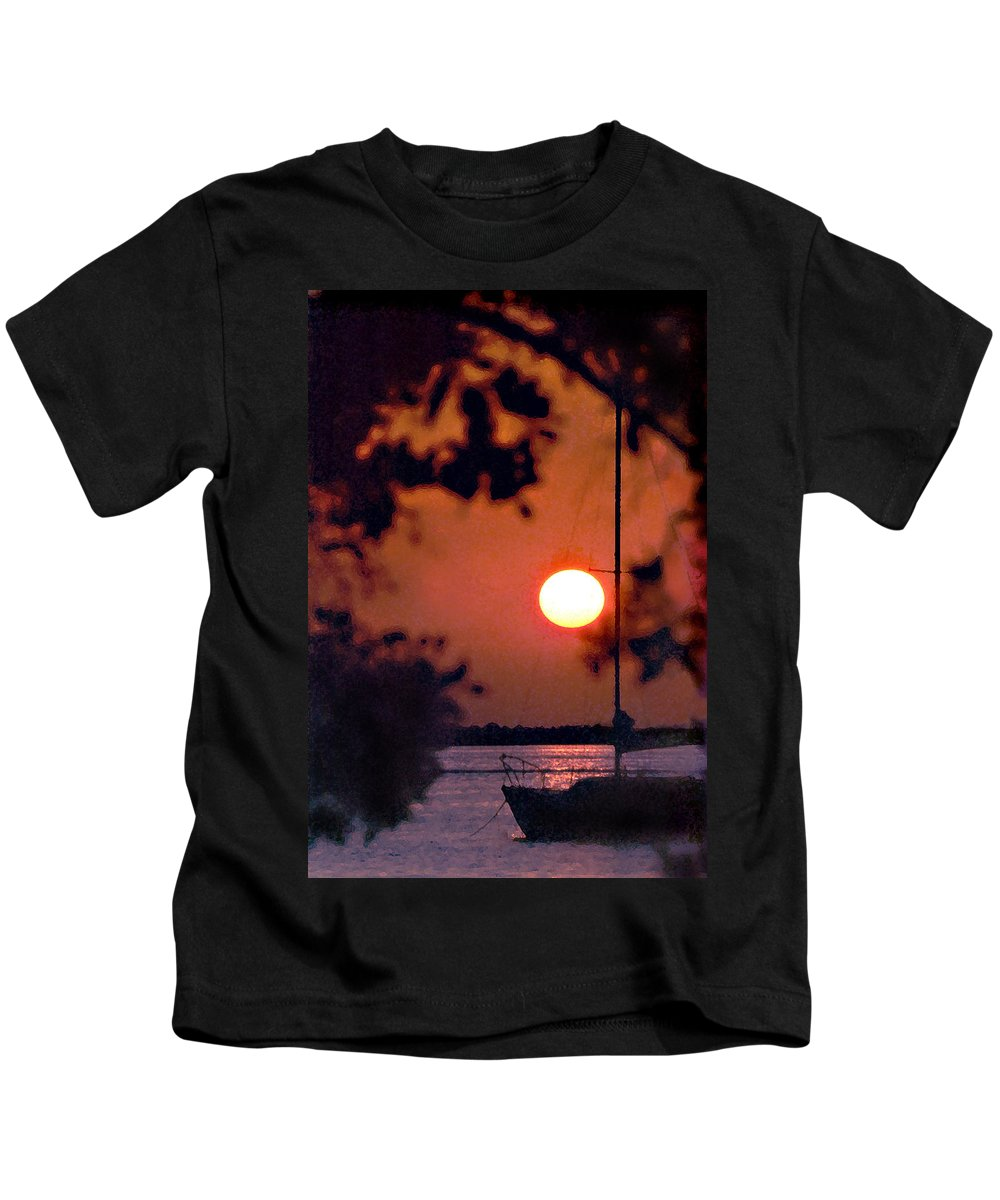 Seascape Kids T-Shirt featuring the photograph Key Largo by Steve Karol