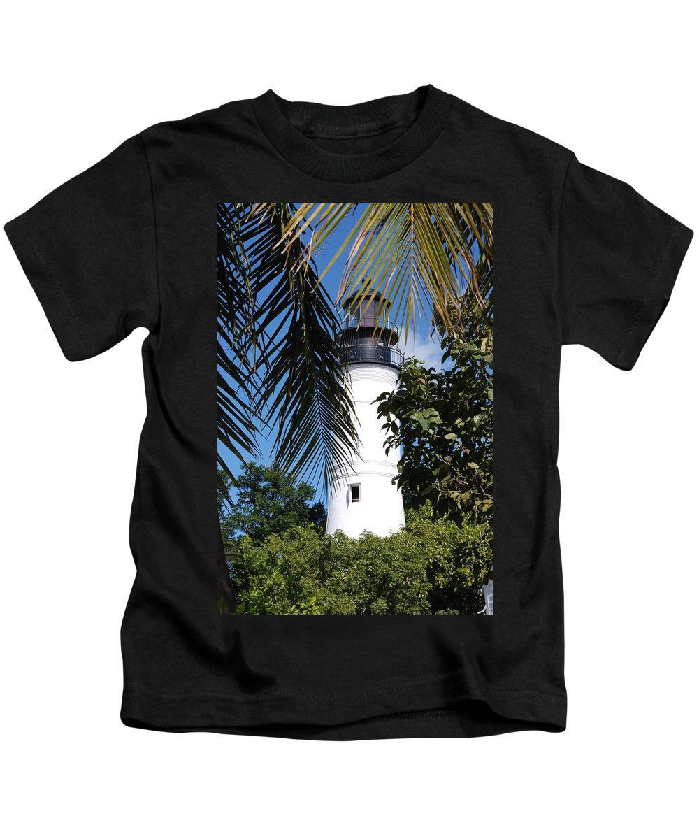 Lighthouse Kids T-Shirt featuring the photograph Key West Lighthouse by Susanne Van Hulst