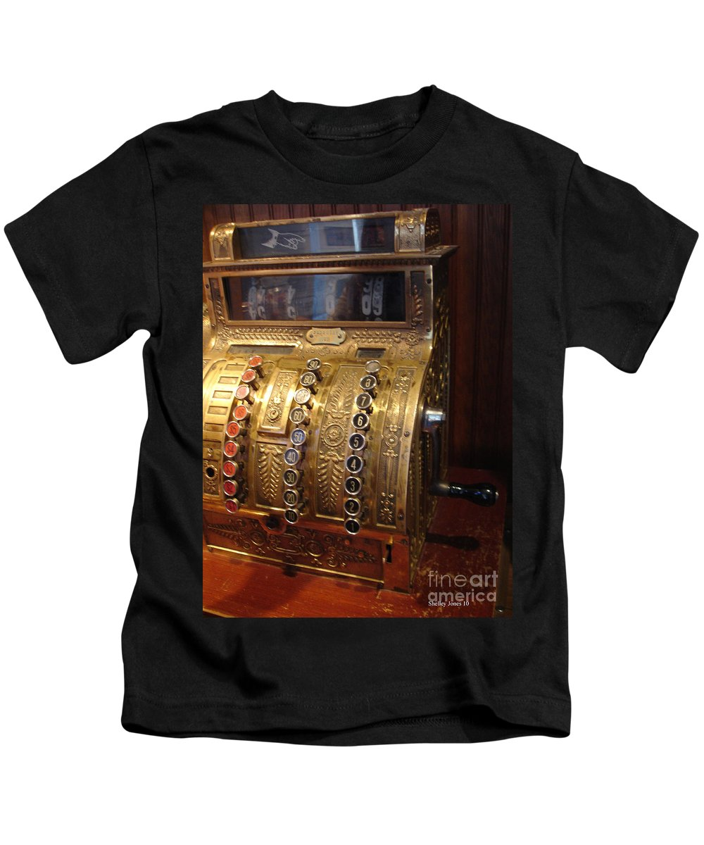 Cash Register Kids T-Shirt featuring the photograph Keys Of Time 2 by Shelley Jones