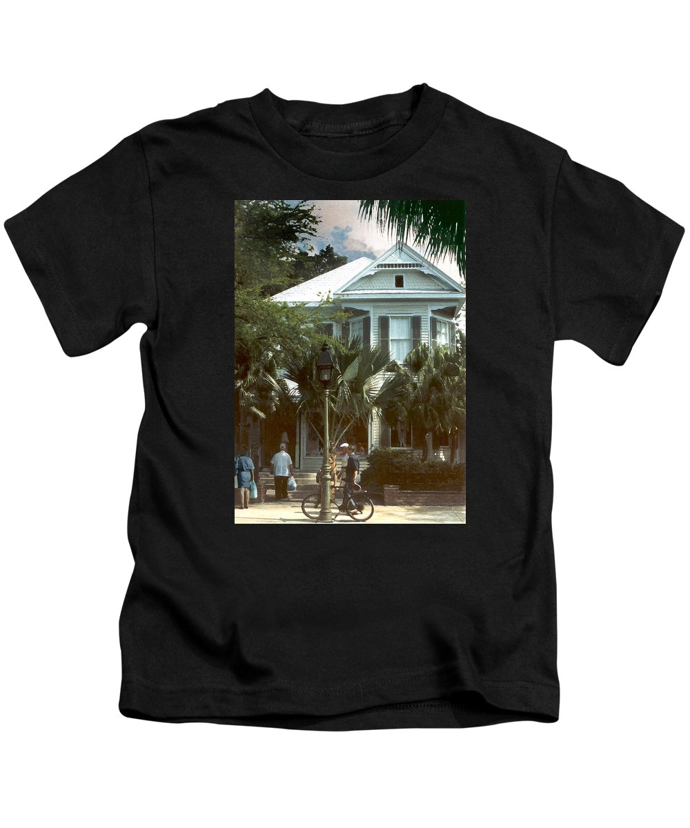 Historic Kids T-Shirt featuring the photograph Keywest by Steve Karol