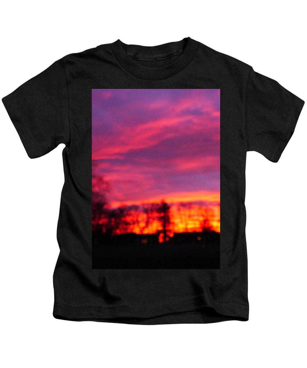 Sunset Kids T-Shirt featuring the photograph Kiera's Sunset by Jack Riordan