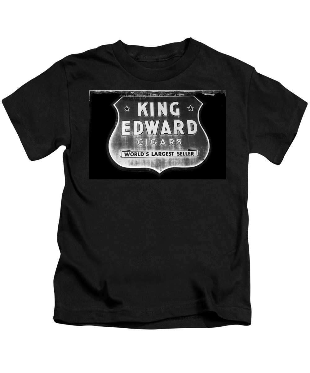 Fine Art Photography Kids T-Shirt featuring the photograph King Edward Cigars by David Lee Thompson