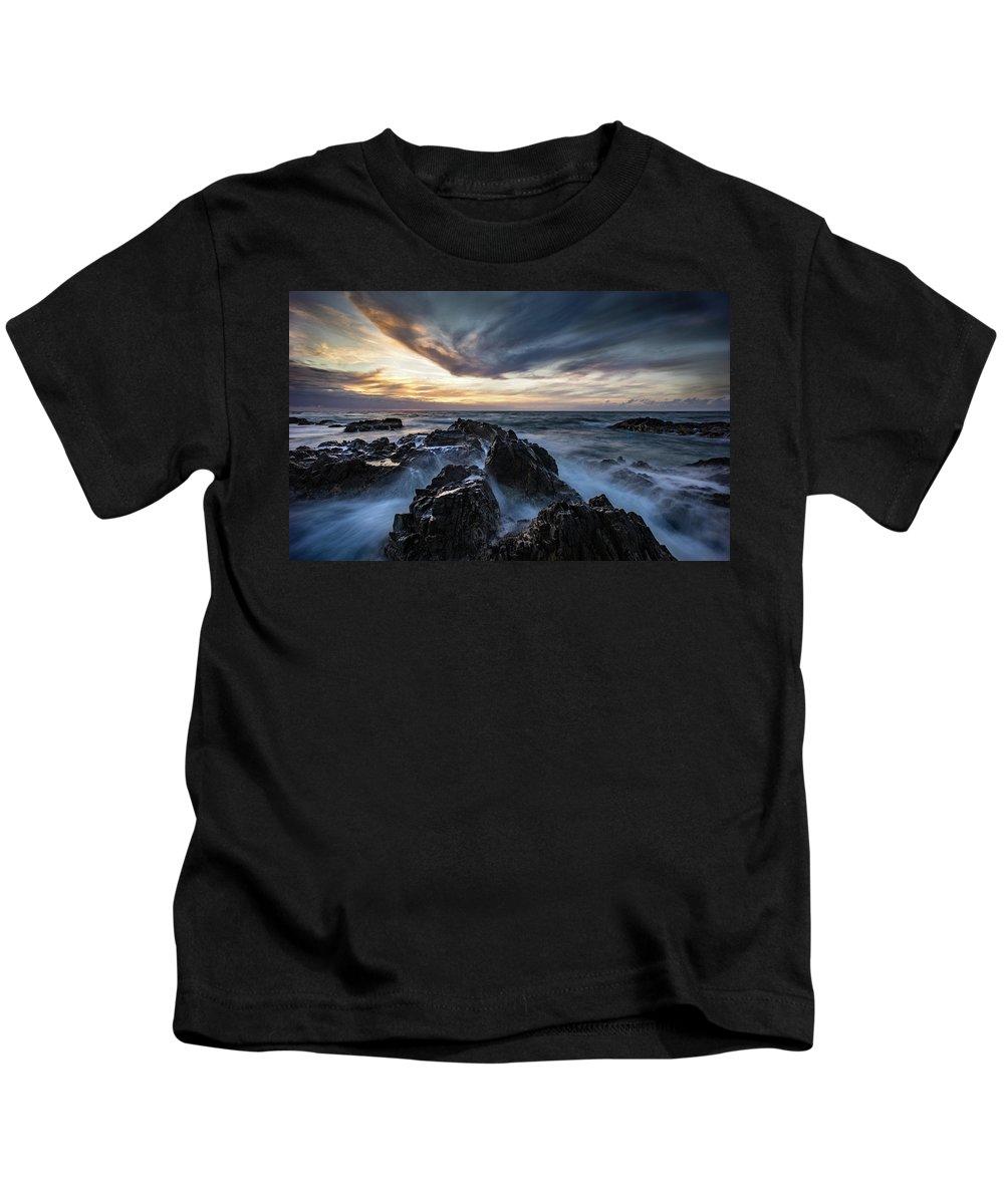 Sunset Kids T-Shirt featuring the photograph King Island Sunset by Graeme Mell