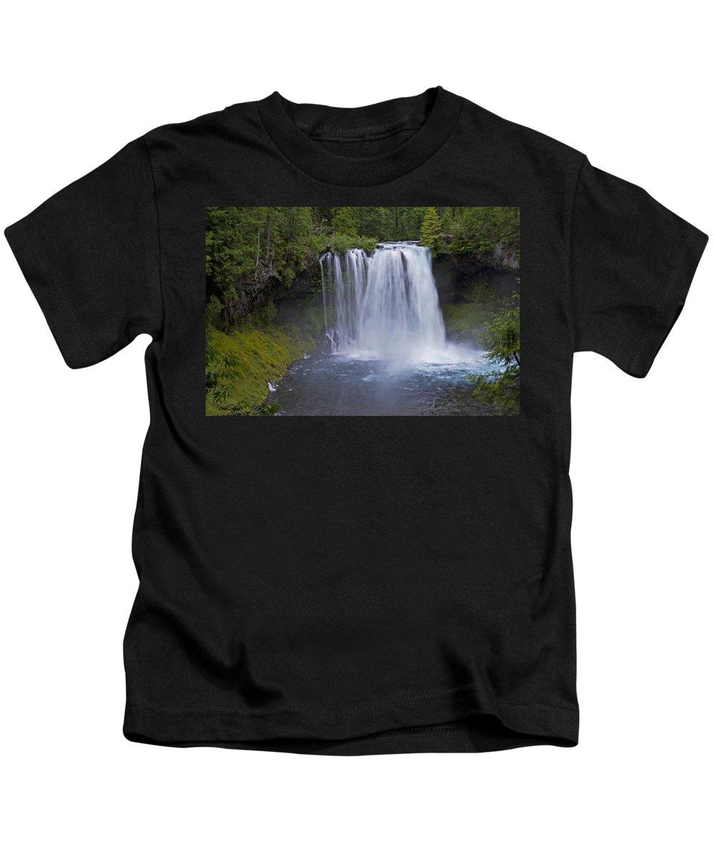 Landscape Kids T-Shirt featuring the photograph Koosah Falls by David Salter