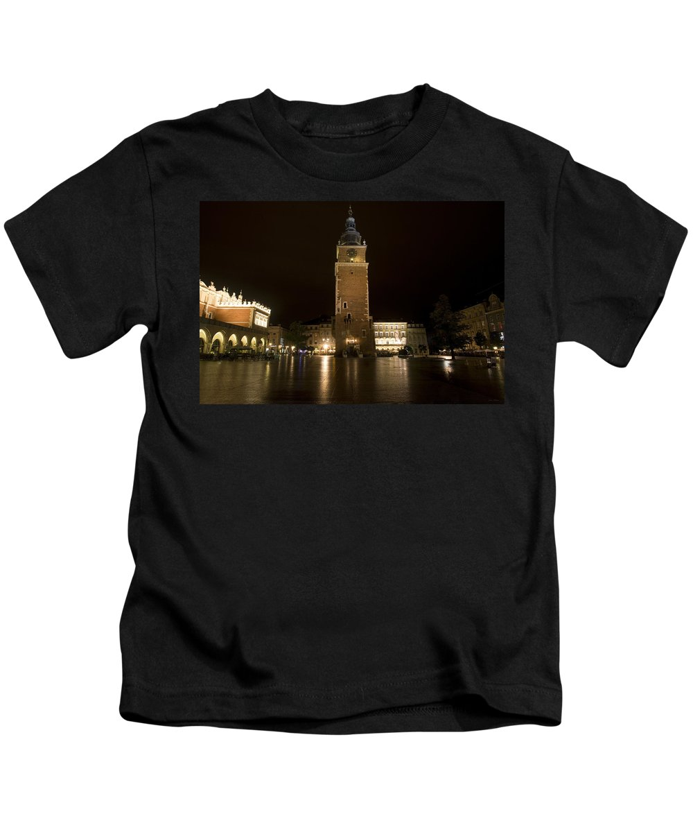 Krakow Kids T-Shirt featuring the photograph Krakow Town Hall Tower by Julian Wicksteed