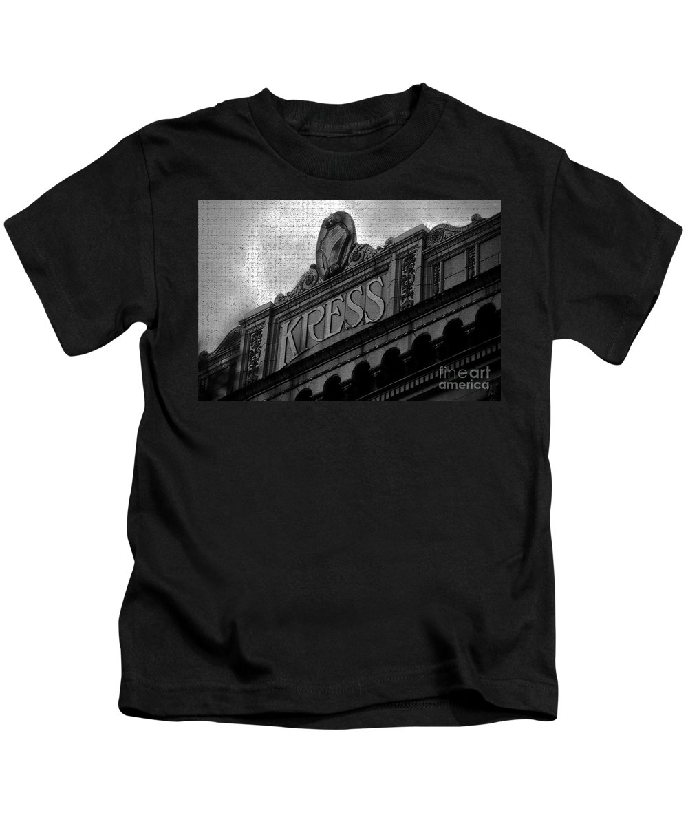 S. H. Kress Kids T-Shirt featuring the photograph Kress 1929 by David Lee Thompson