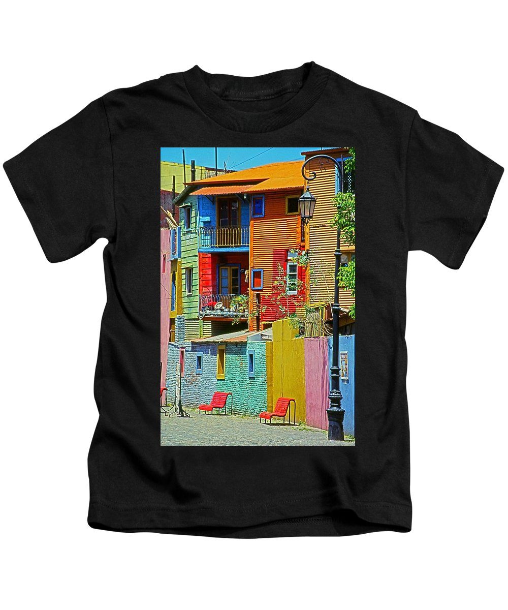 South America Kids T-Shirt featuring the photograph La Boca - Buenos Aires by Juergen Weiss
