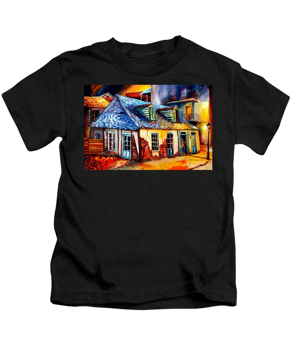 New Orleans Kids T-Shirt featuring the painting La Fittes Blacksmith Shop by Diane Millsap