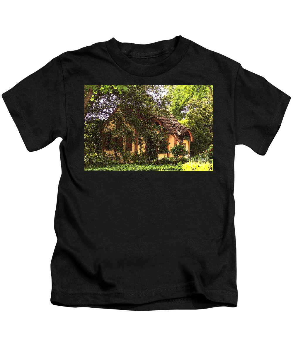 Cottage Kids T-Shirt featuring the photograph La Maison by Debbi Granruth