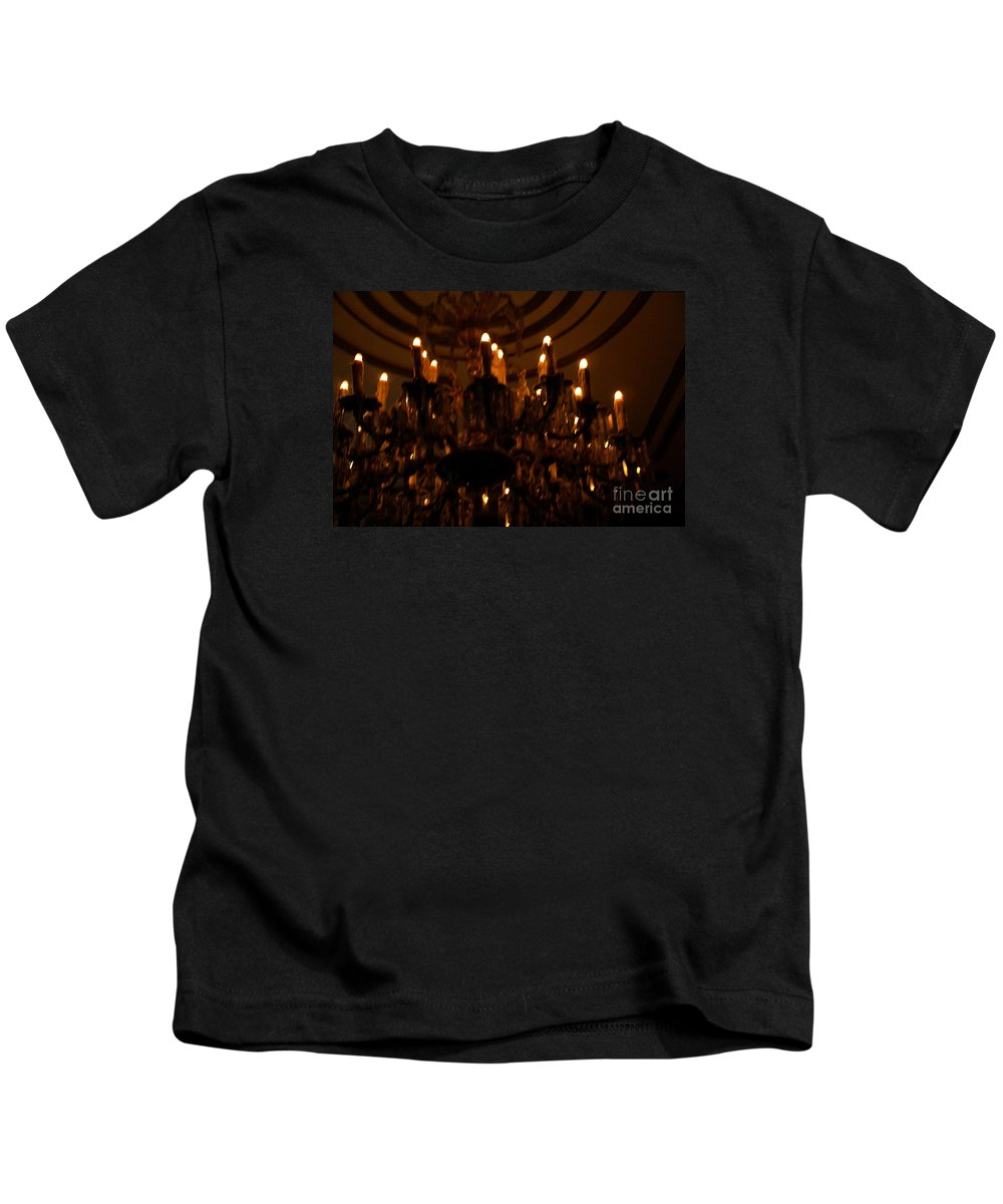 Light Kids T-Shirt featuring the photograph La Salle D'attente by Linda Shafer
