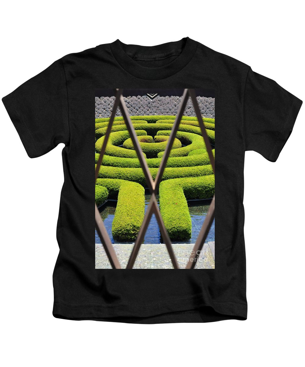 Clay Kids T-Shirt featuring the photograph Labyrinth At The Getty by Clayton Bruster