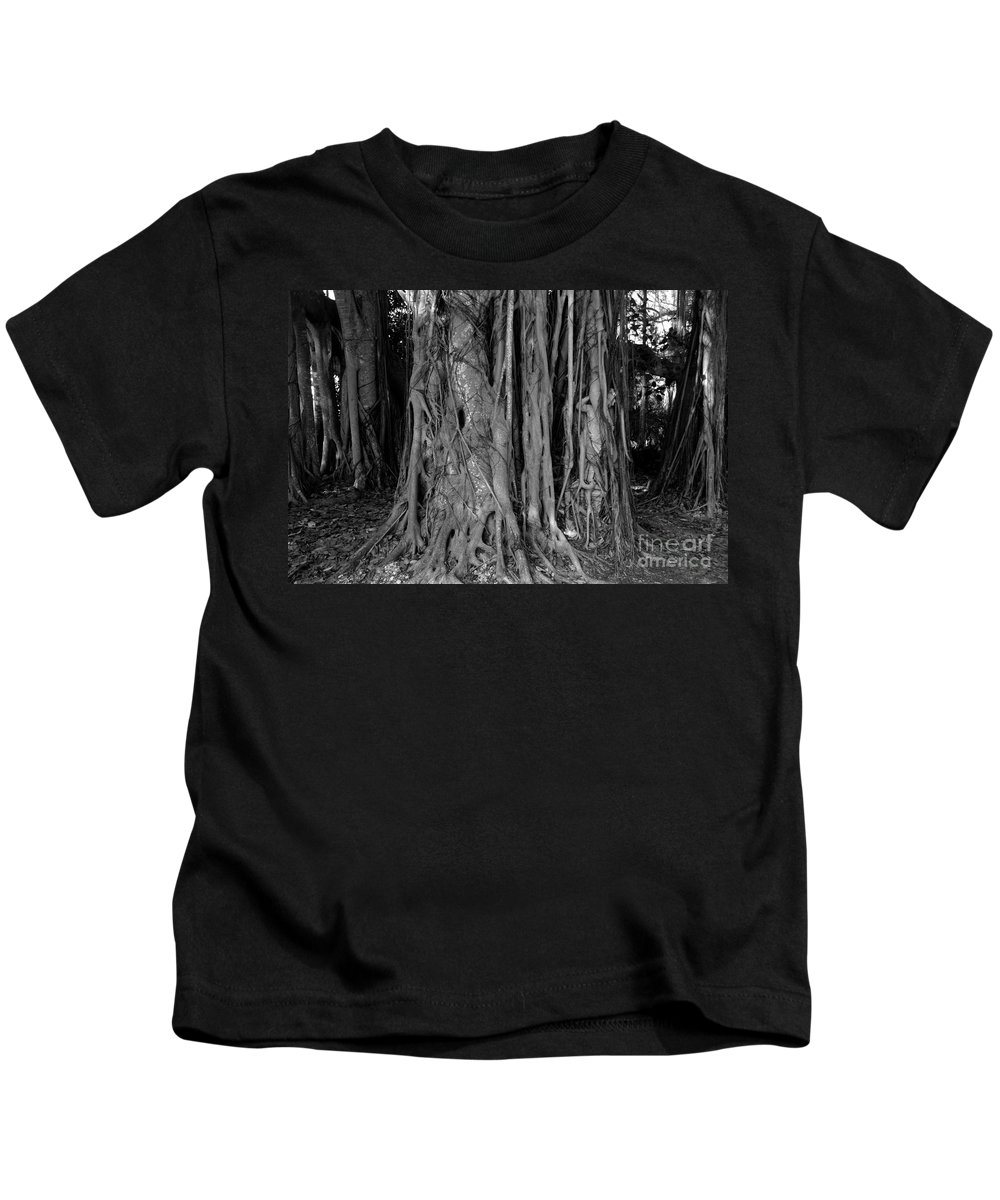 Banyan Trees Kids T-Shirt featuring the photograph Lady In The Banyans by David Lee Thompson