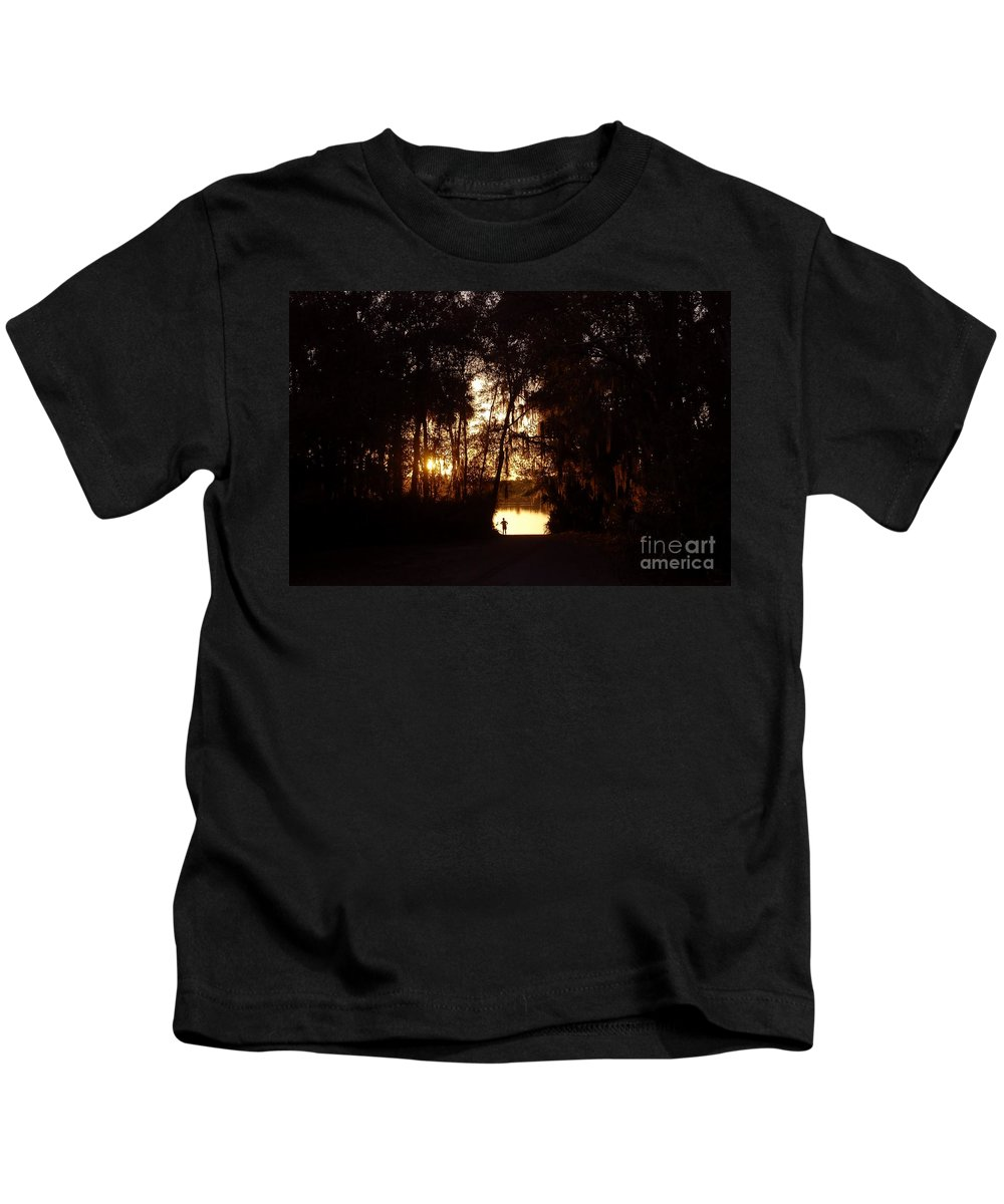 Lake Kids T-Shirt featuring the photograph Lady Of The Lake by David Lee Thompson