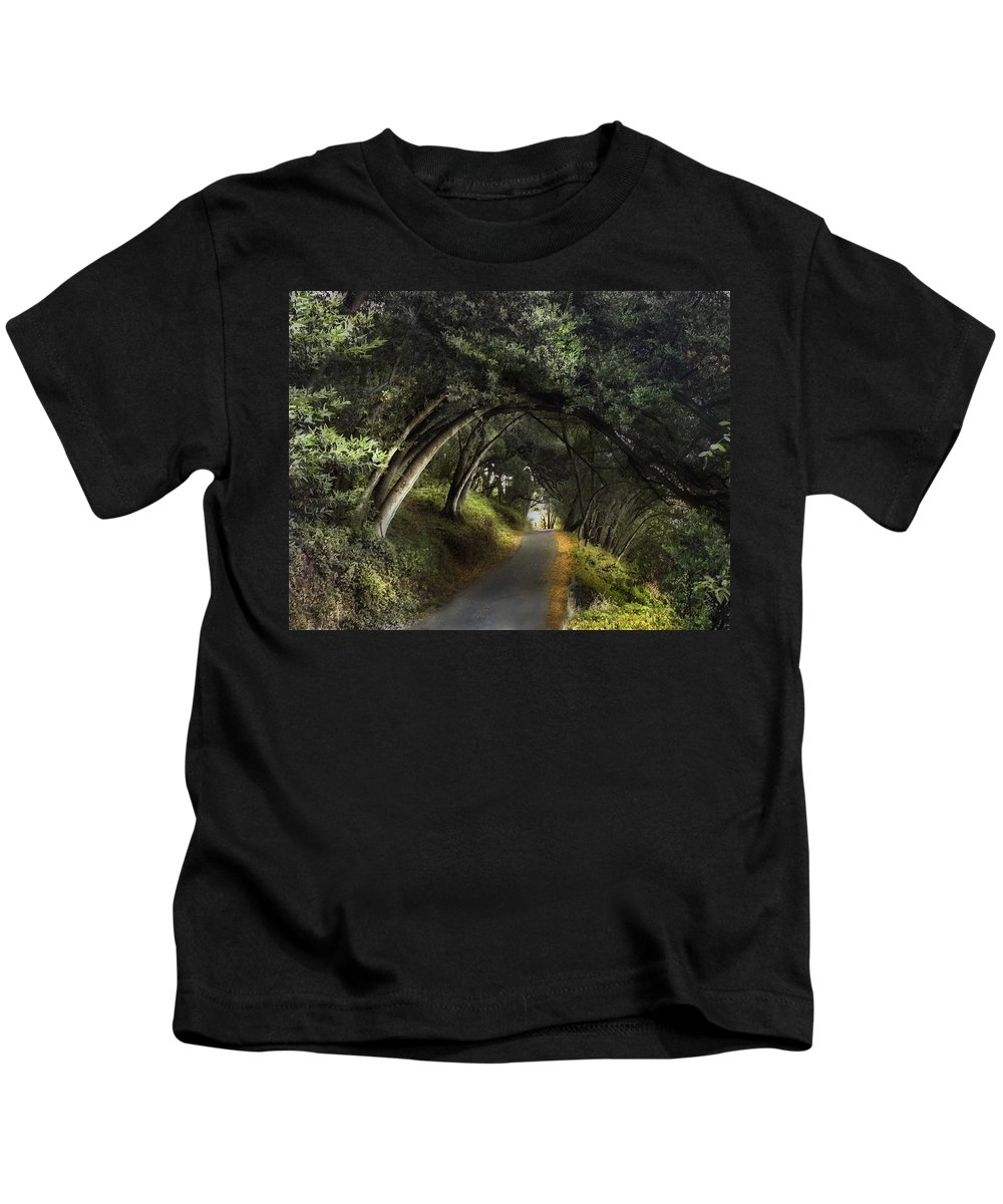 Landscapes Kids T-Shirt featuring the photograph Lake Chabot by Karen W Meyer