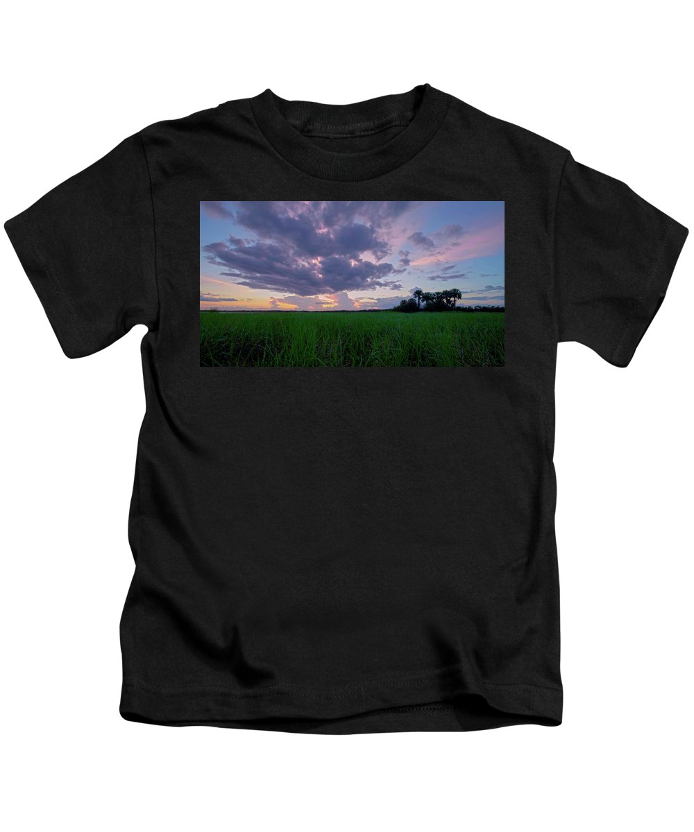 Sunset Kids T-Shirt featuring the photograph Lake Harney Sunset by Charlie Grindrod