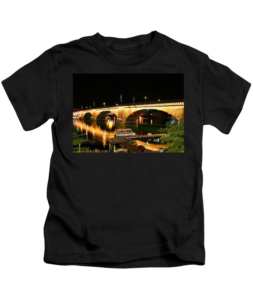 London Bridge Kids T-Shirt featuring the photograph Lake Havasu by Kristin Elmquist