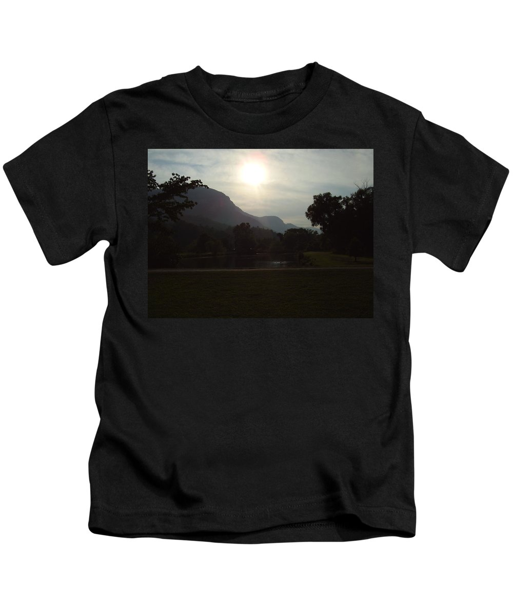Lake Lure Kids T-Shirt featuring the photograph Lake Lure by Flavia Westerwelle