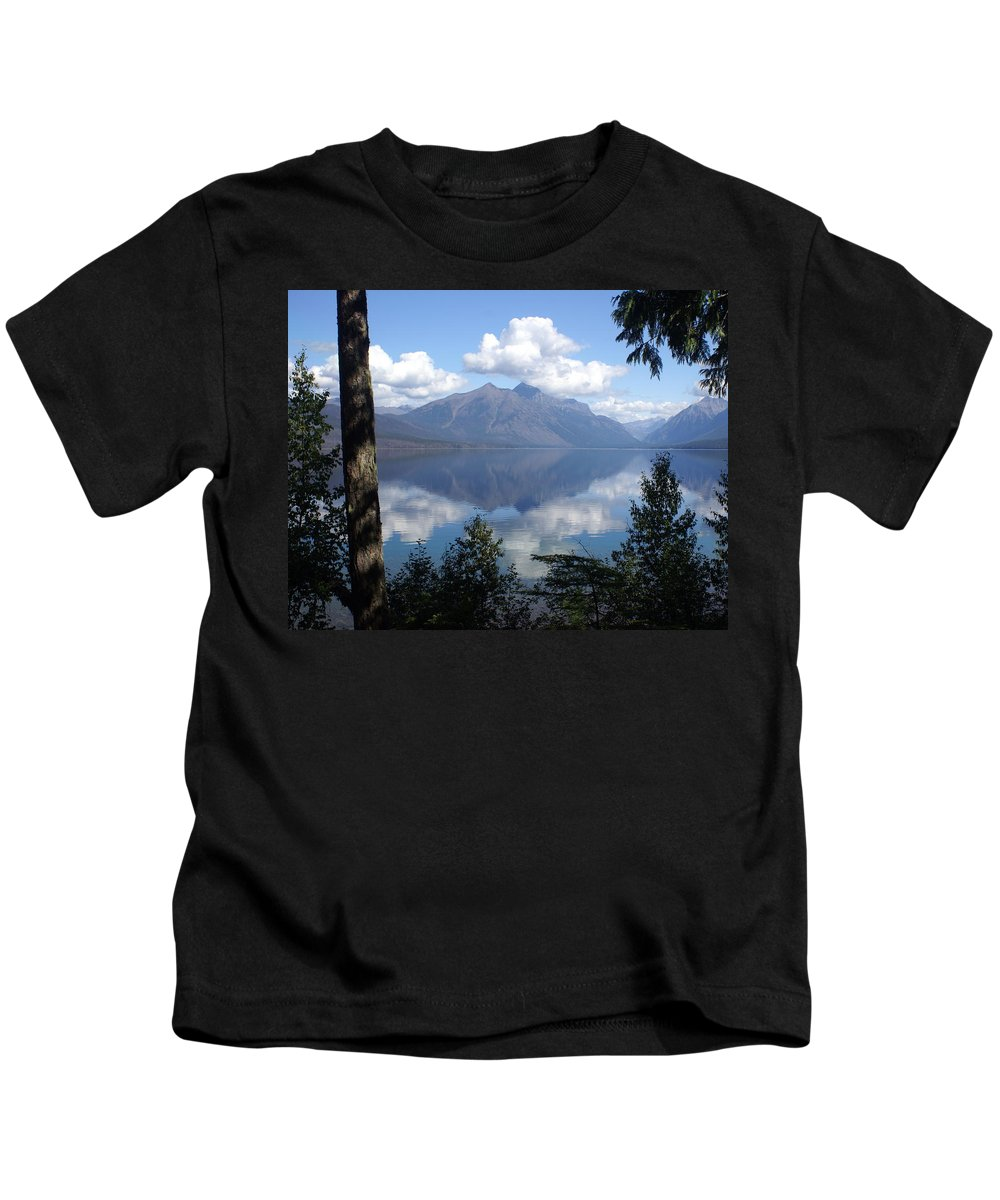 Lake Kids T-Shirt featuring the photograph Lake Mcdonald Glacier National Park by Marty Koch