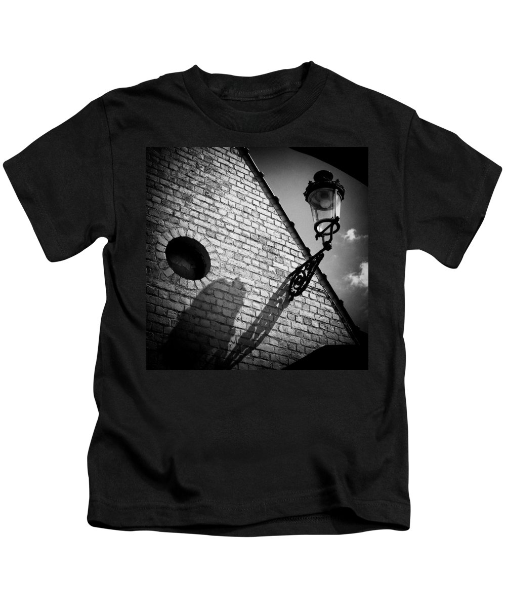Lamp Kids T-Shirt featuring the photograph Lamp With Shadow by Dave Bowman