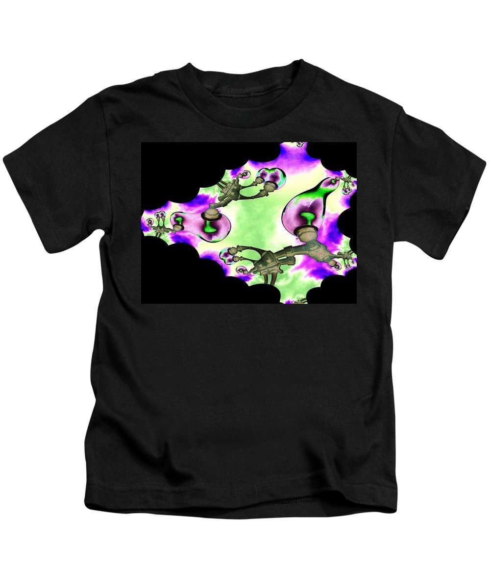 Lamps Kids T-Shirt featuring the digital art Lamps by Tim Allen