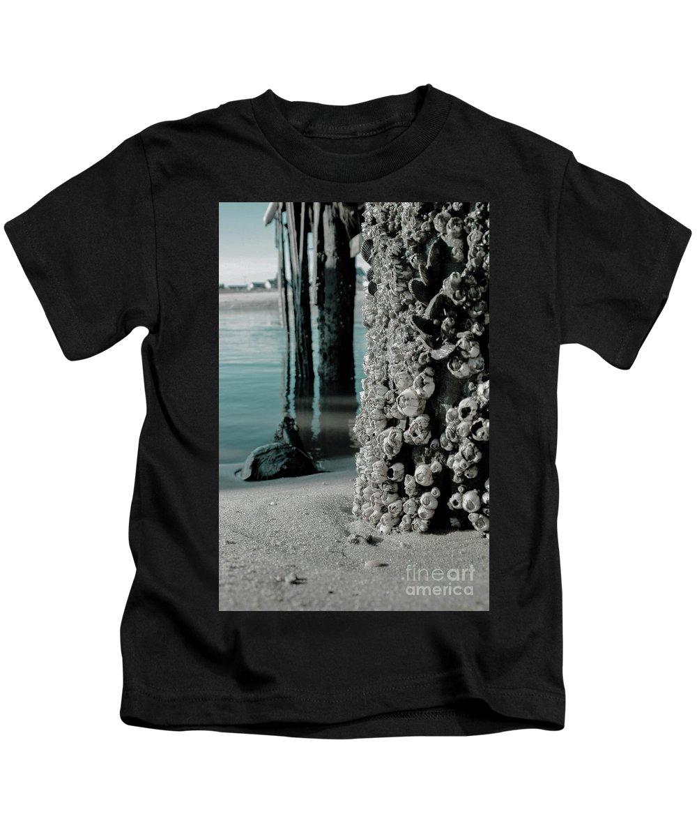 Coastal Decor Kids T-Shirt featuring the photograph Land Meets Water Nature Photograph by Melissa Fague