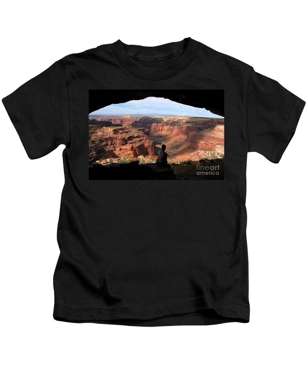 Canyon Lands National Park Utah Kids T-Shirt featuring the photograph Land Of Canyons by David Lee Thompson