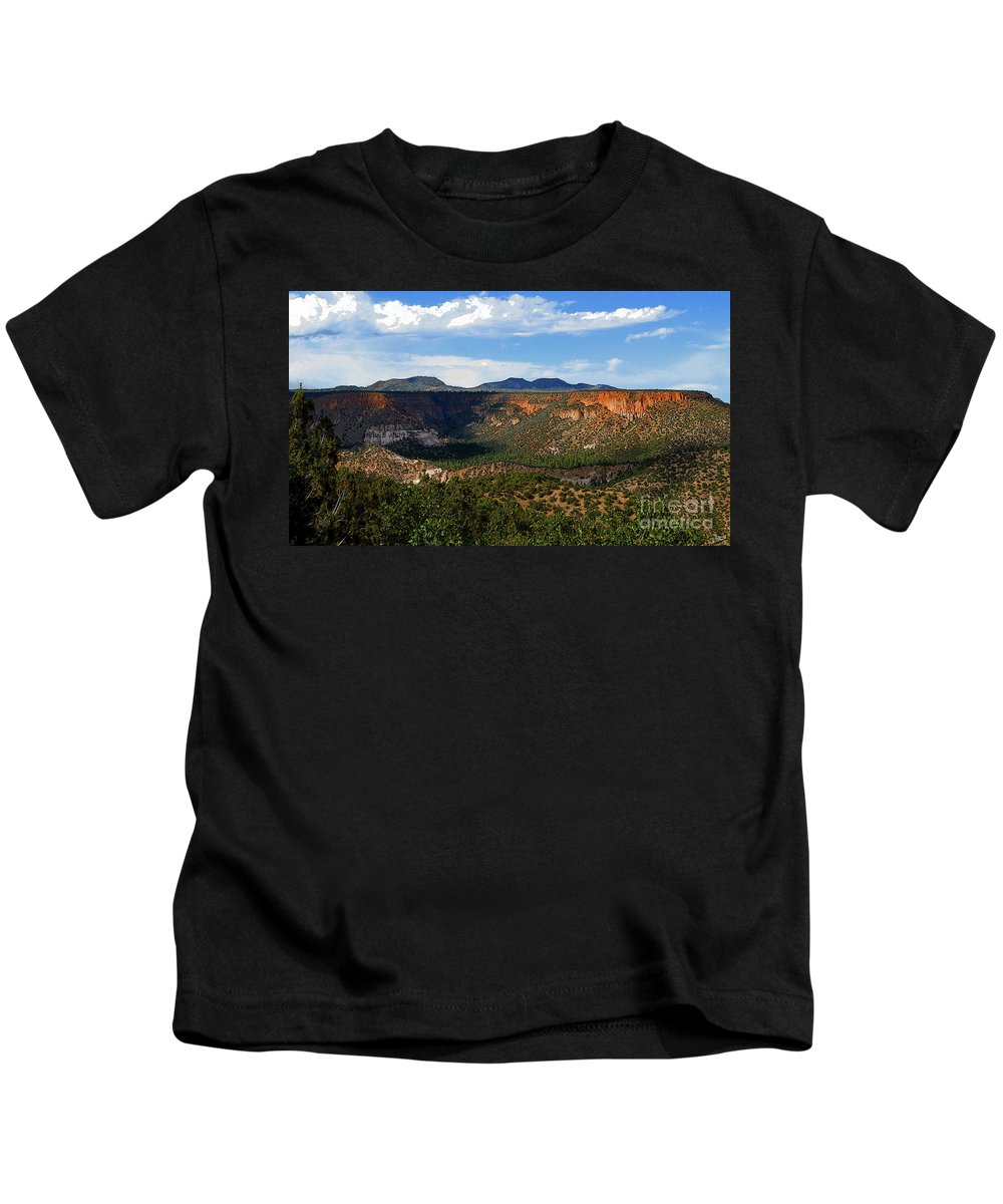 Art Kids T-Shirt featuring the painting Land Of Enchantment by David Lee Thompson