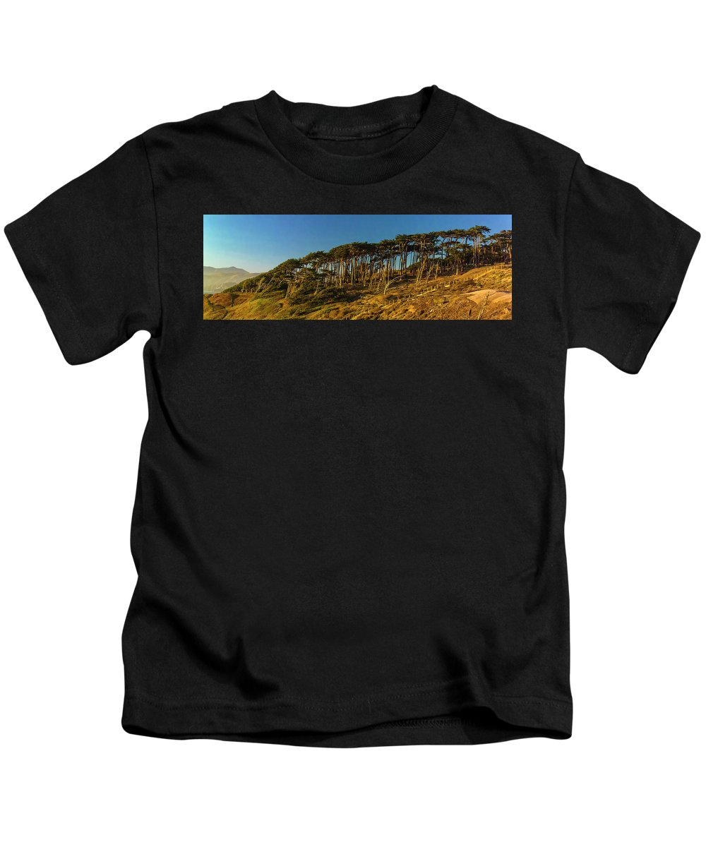 Sutro Heights Park Kids T-Shirt featuring the photograph Lands End by Greg Reed