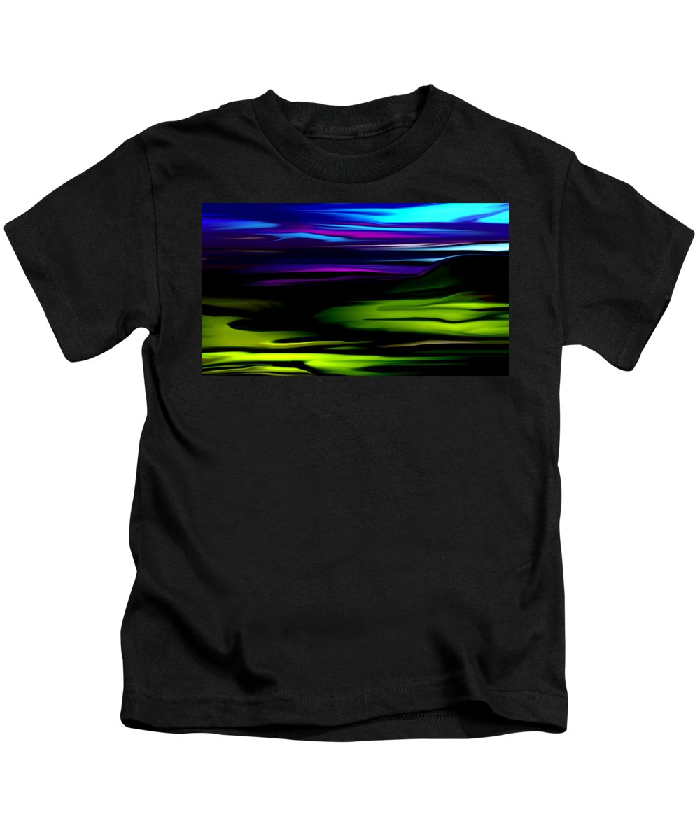 Abstract Expressionism Kids T-Shirt featuring the digital art Landscape 8-05-09 by David Lane