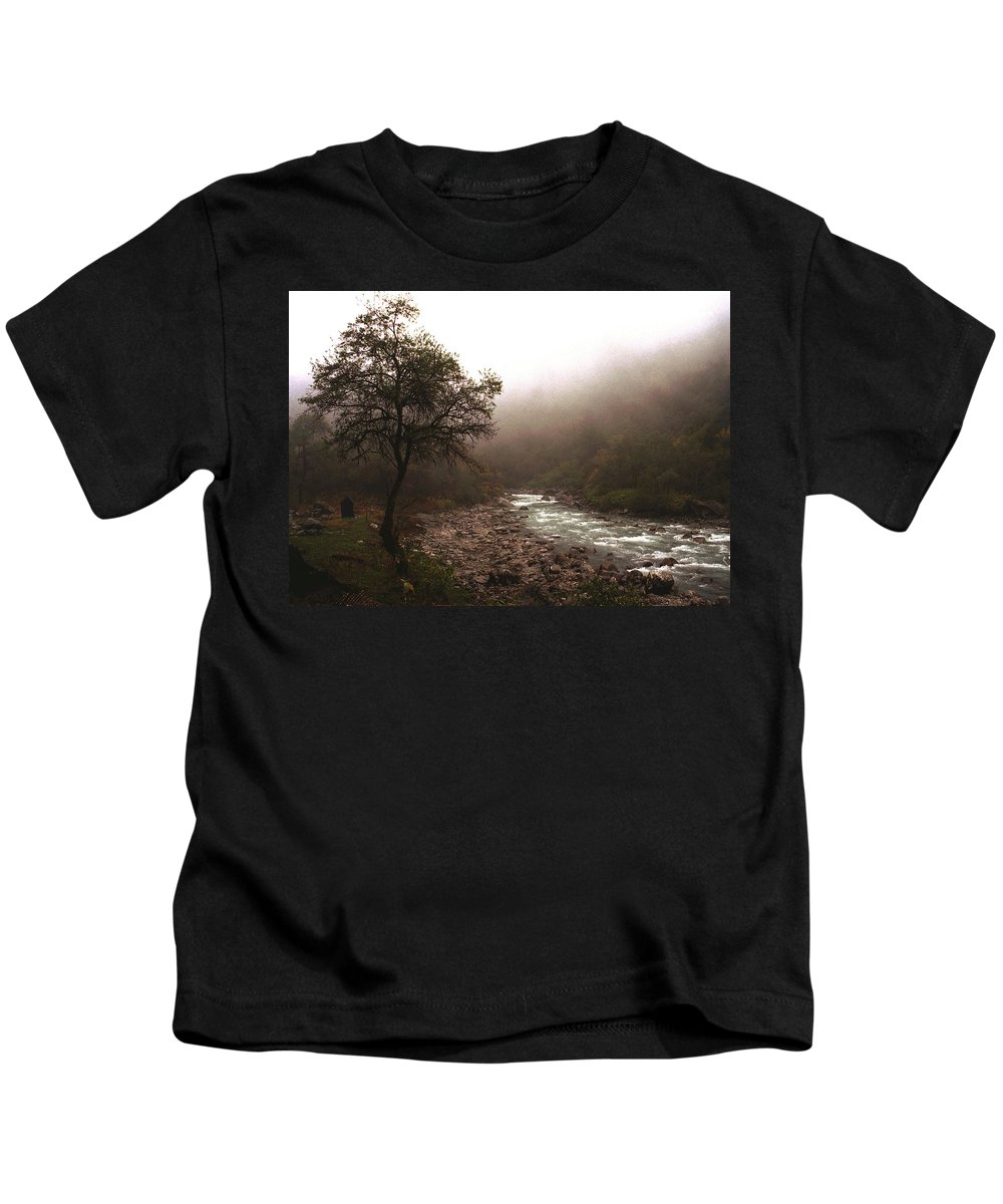 Tree Kids T-Shirt featuring the photograph Langtang Morning by Patrick Klauss