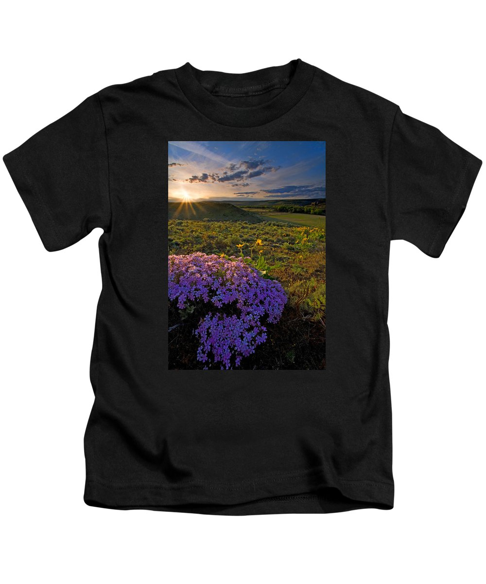 Wildflowers Kids T-Shirt featuring the photograph Last Light Of Spring by Mike Dawson