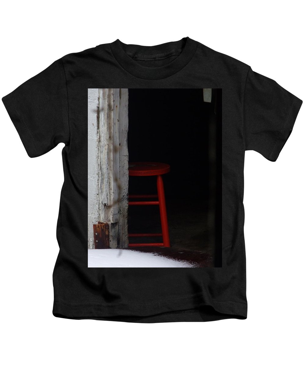 Last Man Standing. Stool Kids T-Shirt featuring the photograph Last Man Standing by Edward Smith
