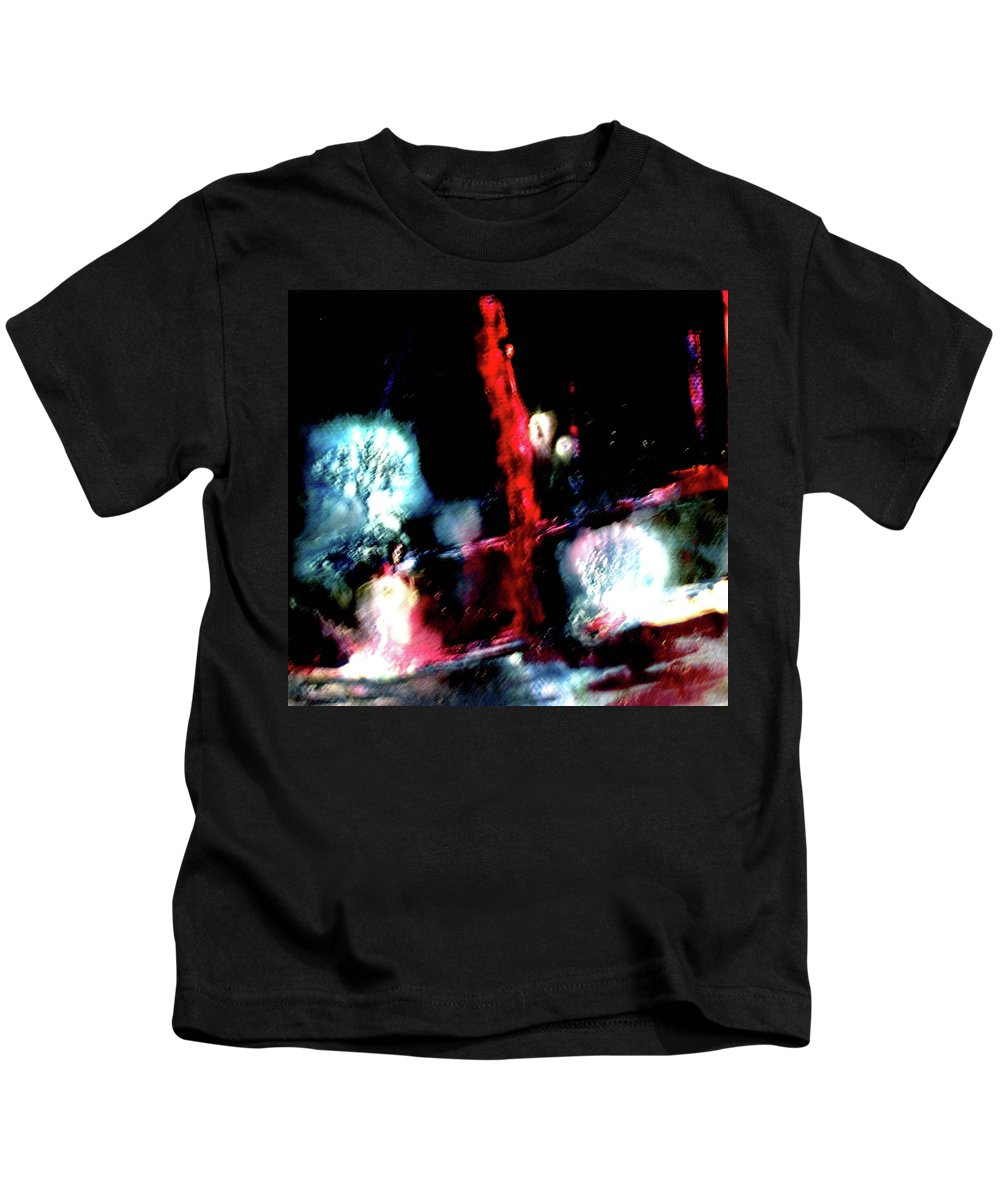 Red Kids T-Shirt featuring the painting Last Night by Janice Nabors Raiteri