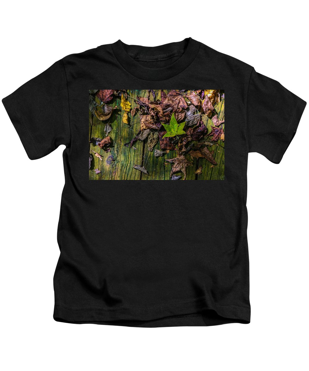 Abstract Kids T-Shirt featuring the photograph Last Of The Living by William Fredette-huffman