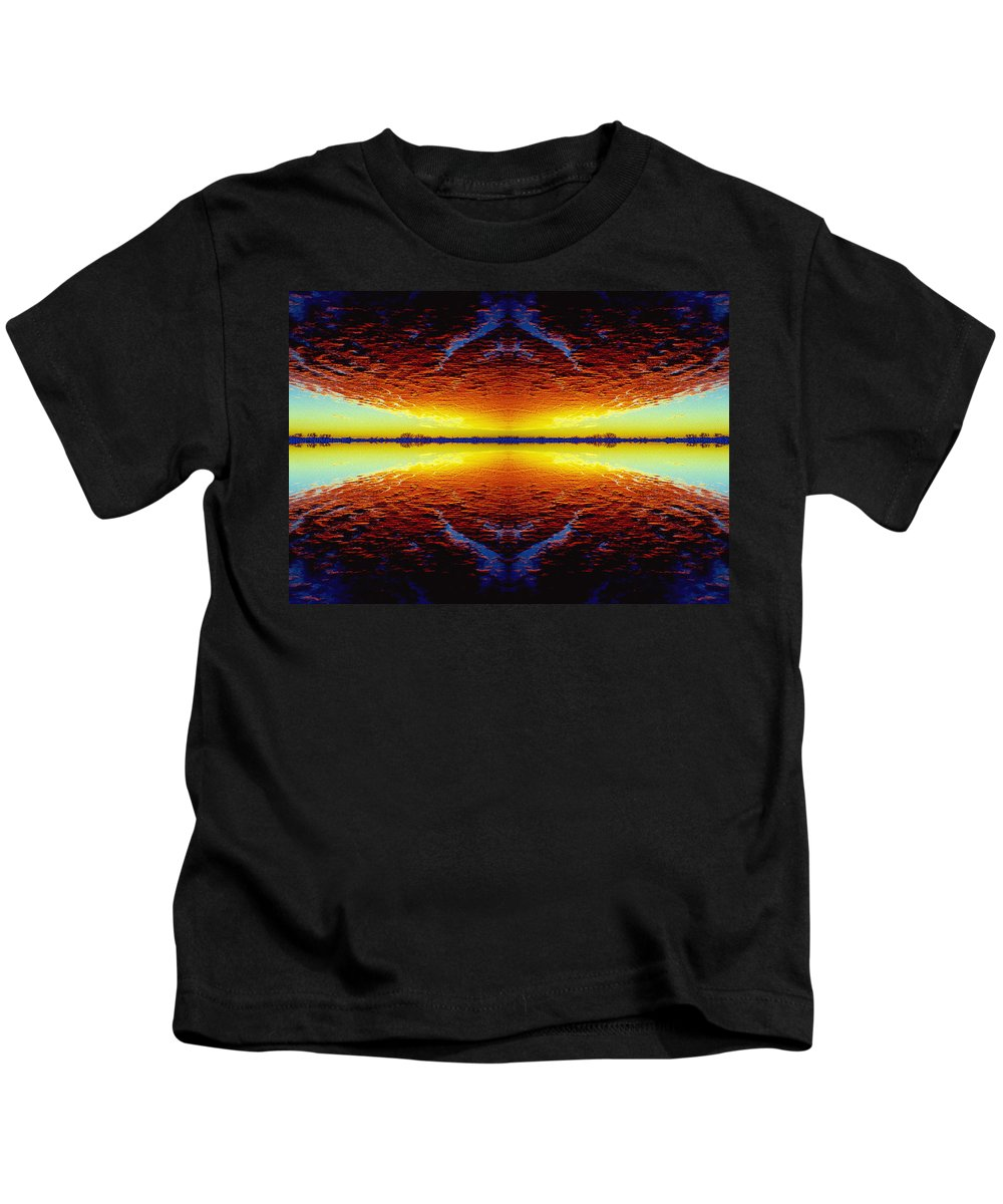 Sunset Kids T-Shirt featuring the photograph Last Sunset by Nancy Mueller