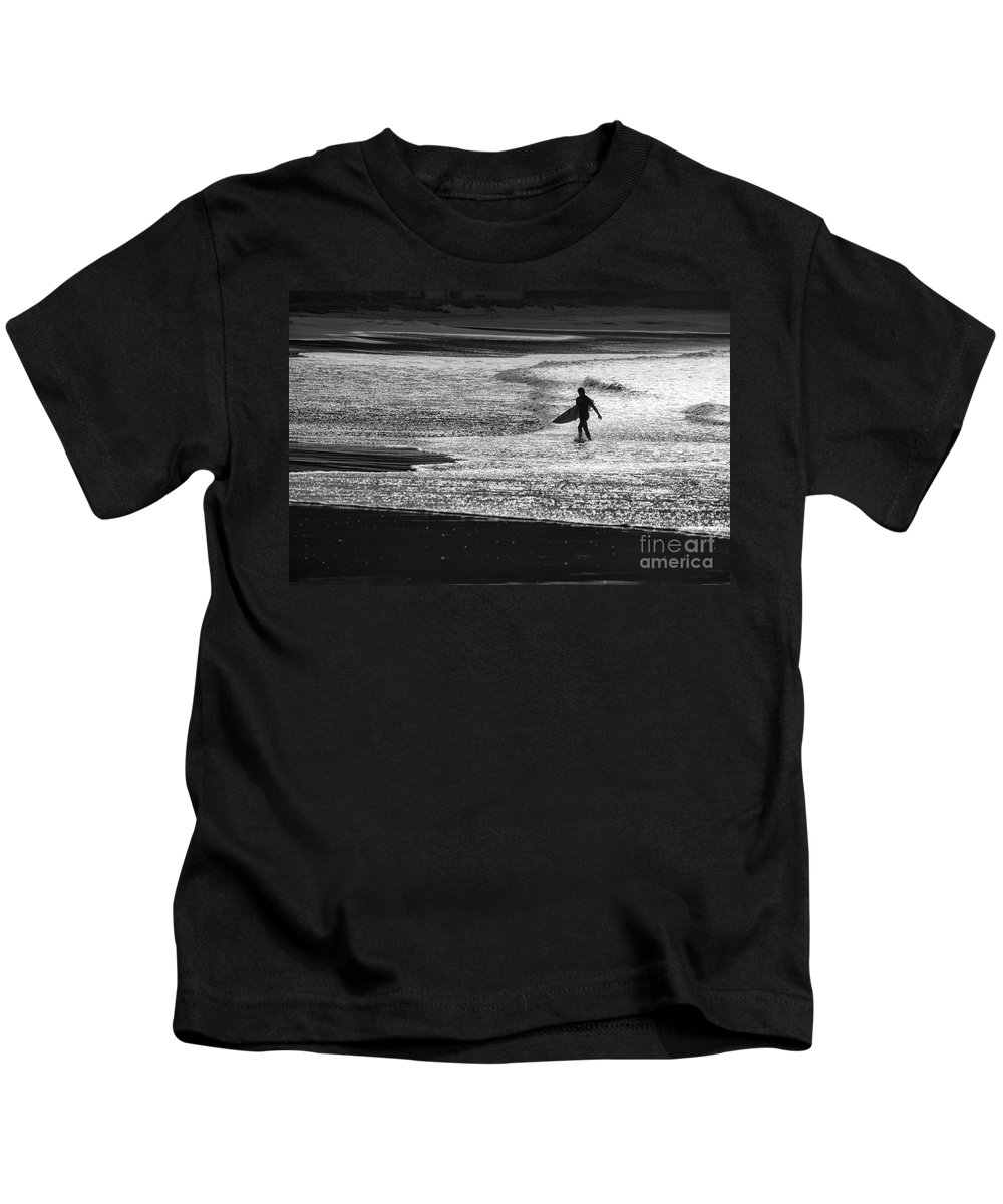 Surfer Kids T-Shirt featuring the photograph Last wave by Sheila Smart Fine Art Photography