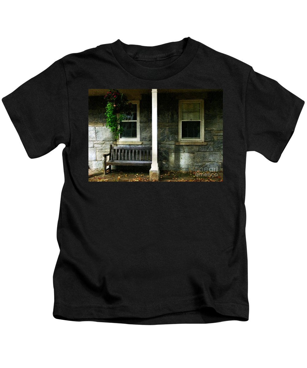 Autumn Kids T-Shirt featuring the painting Late Afternoon In Autumn by RC DeWinter