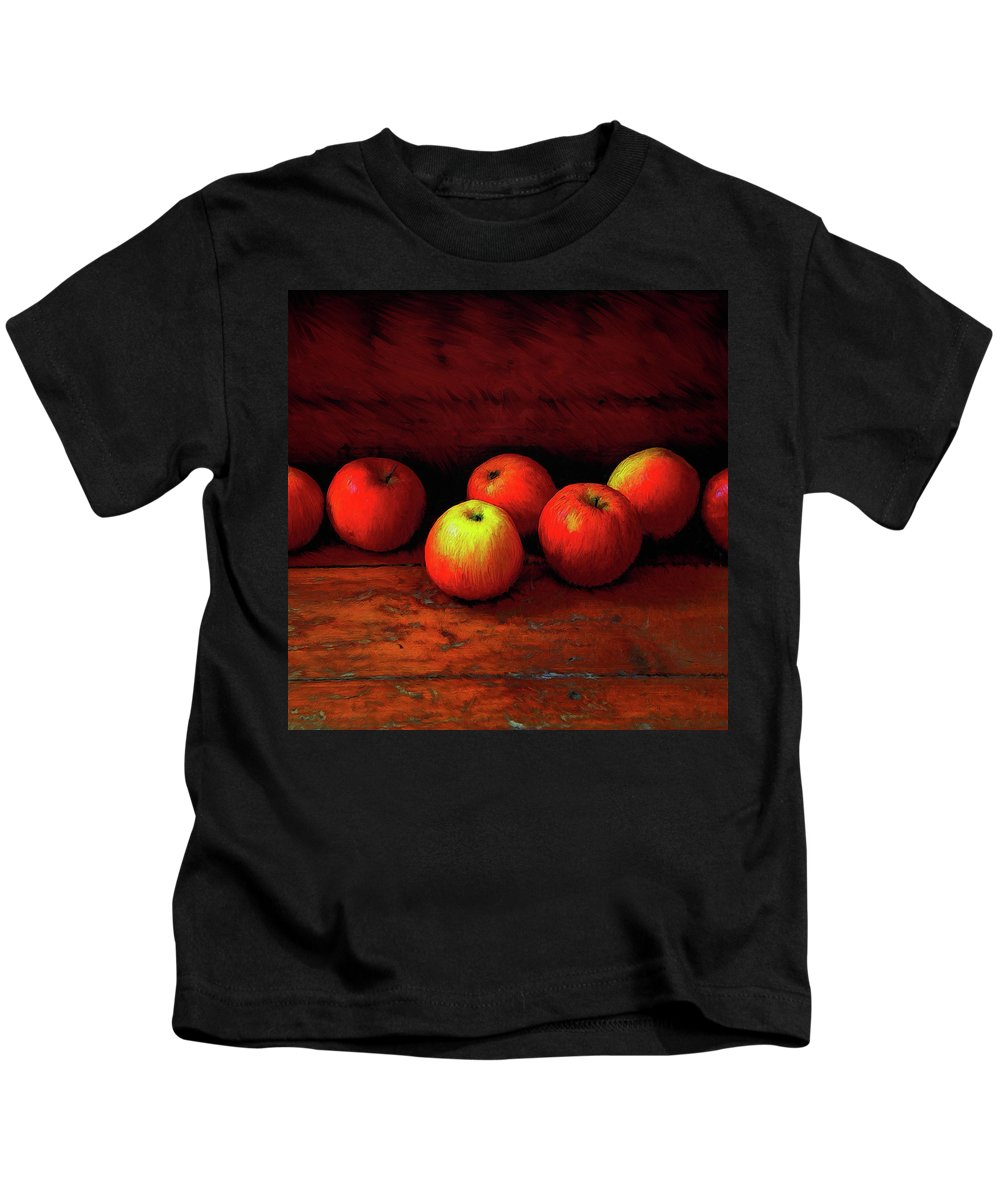 Apples Kids T-Shirt featuring the painting Late Harvest by Dominic Piperata