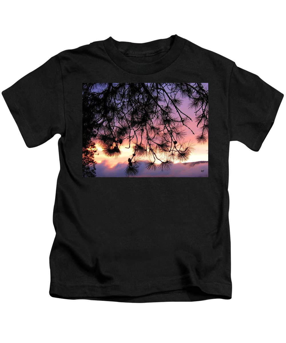 Sunset Kids T-Shirt featuring the photograph Lavender Sunset by Will Borden
