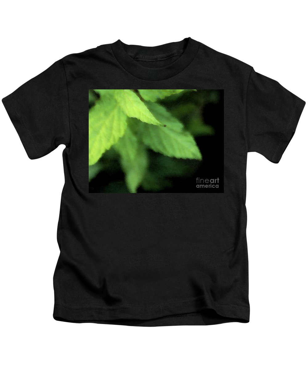 Leaves Kids T-Shirt featuring the photograph Layered Leaves by Linda Shafer