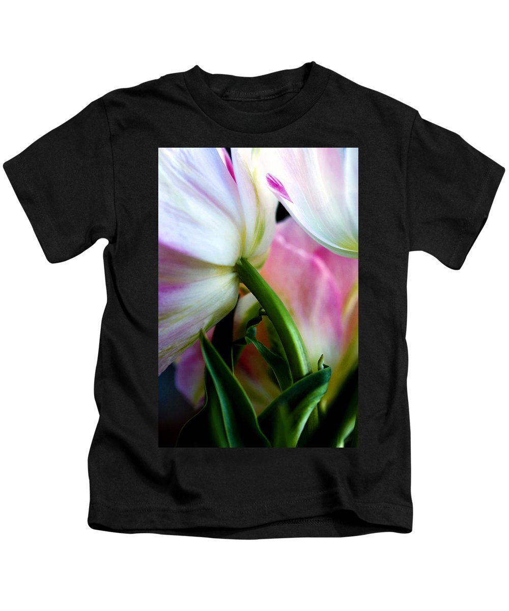 Flower Kids T-Shirt featuring the photograph Layers Of Tulips by Marilyn Hunt