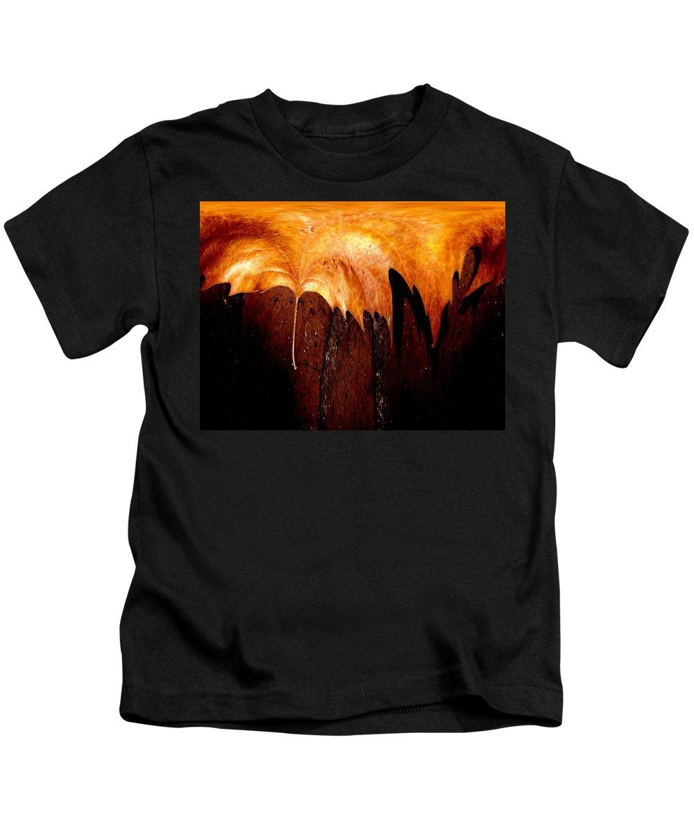 Leaf Kids T-Shirt featuring the photograph Leaf On Bricks 2 by Tim Allen