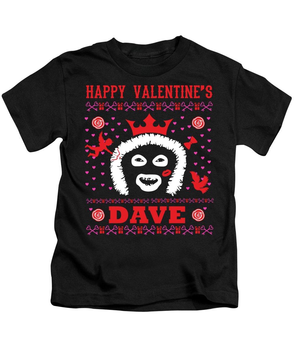 League Of Gentlemen Kids T-Shirt featuring the digital art League Of Gentlemen Papa Lazarou Happy Valentine's Dave by Robert Kelly
