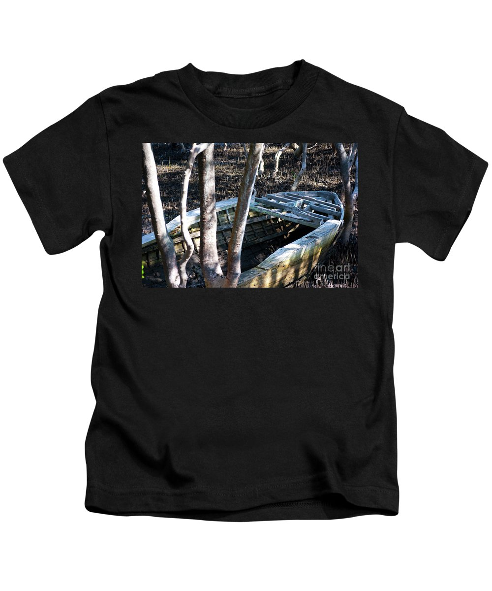 Swamp Kids T-Shirt featuring the photograph Leaky Boat by Stuart Row