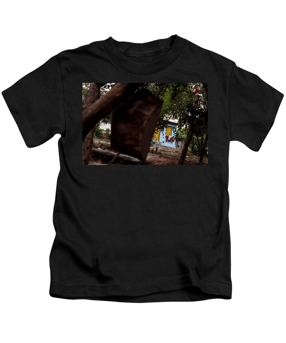 Dog Kids T-Shirt featuring the photograph Lencois - Dog by Patrick Klauss