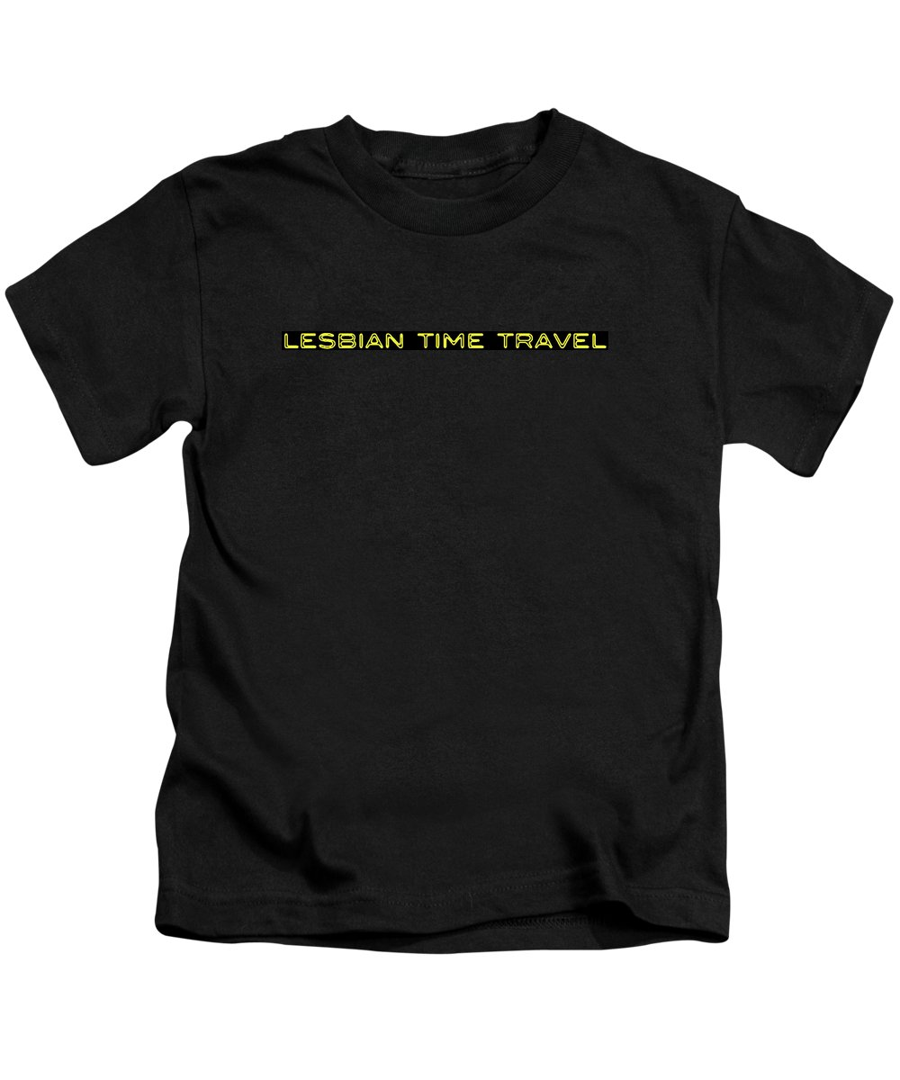 Kids T-Shirt featuring the painting Lesbian Time Travel Tee by Steve Fields
