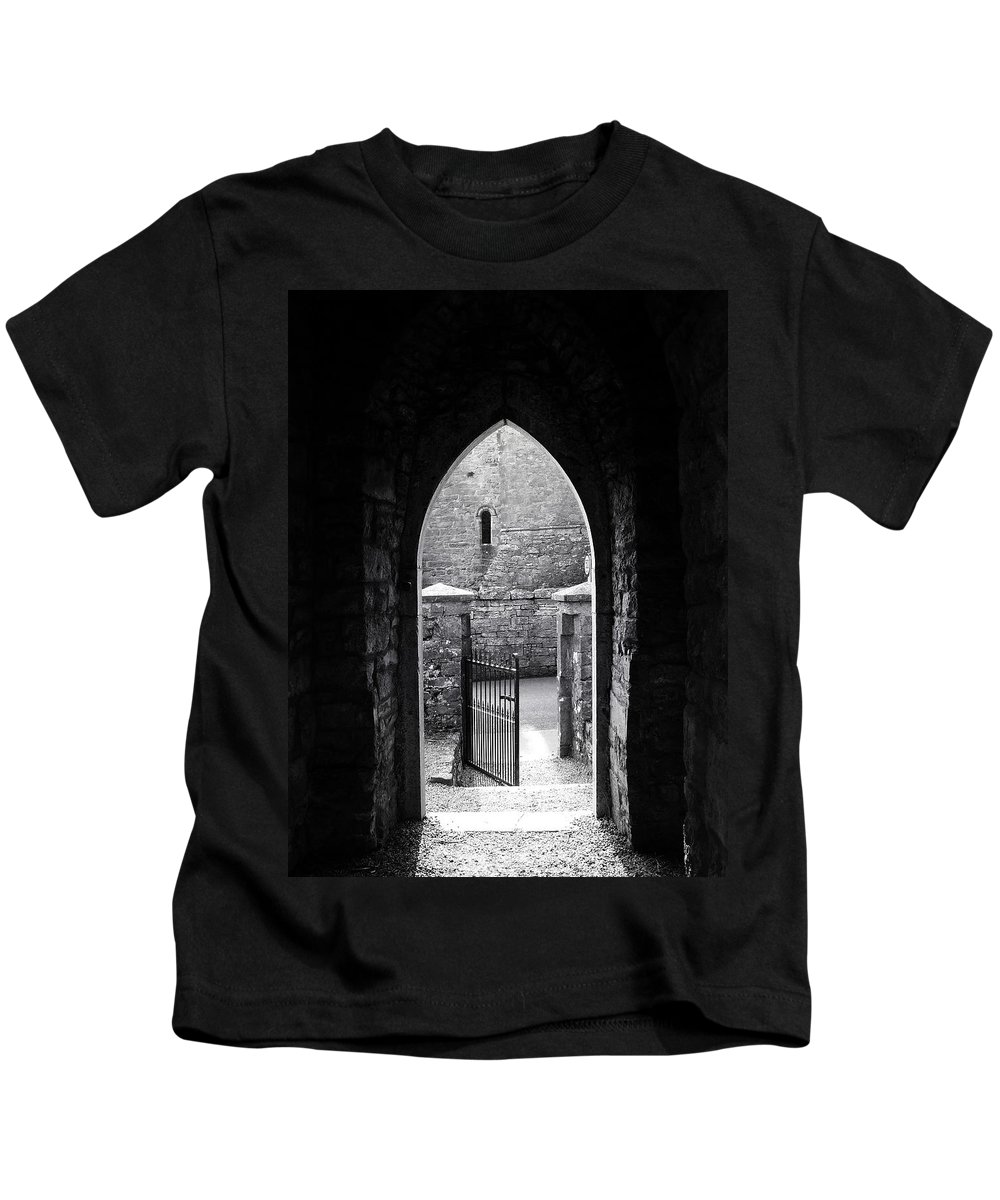 Irish Kids T-Shirt featuring the photograph Let There Be Light Cong Church And Abbey Cong Ireland by Teresa Mucha