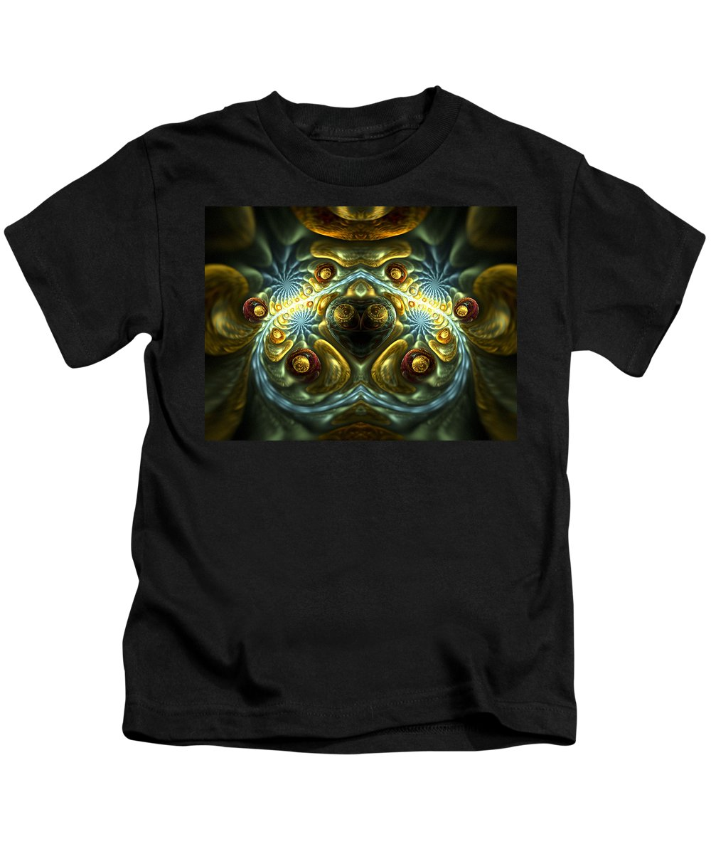 Fractal Kids T-Shirt featuring the digital art Let Your Feelings Flow by Amorina Ashton