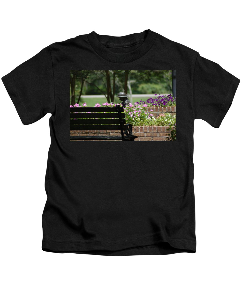 Garden Kids T-Shirt featuring the photograph Lets Rest by Donna Bentley