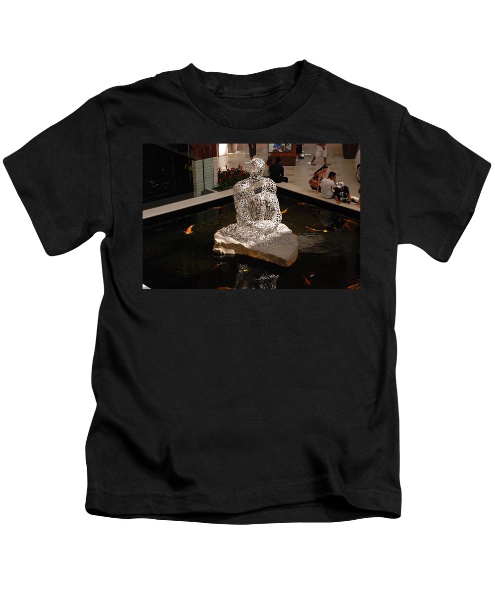 Letters Kids T-Shirt featuring the photograph Letterman By Coy by Rob Hans